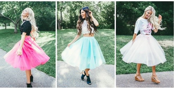 """Absolutely Stunning Tulle Skirt is perfect for any special occasion, photos or your Sunday's Best outfit. Customers rave over the high quality tulle. Skirt is lined. Features elastic waist band for easy, comfortable fitting and is knee length. SIZING:  Small fits 0-4Medium fits 6-8Large 10-12.Models pictured are 5' 4"""" - 5' 9"""" & is wearing a Size Small. Runs true to size"""