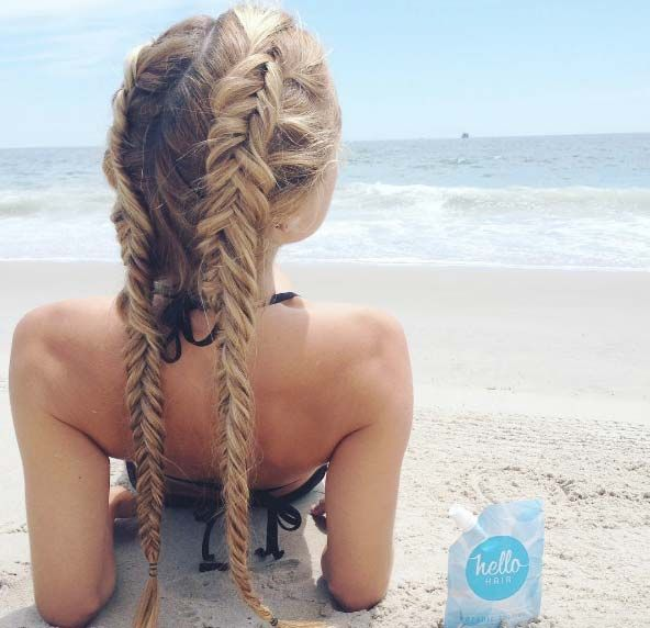 double fishtail braids                                                                                                                                                                                 More