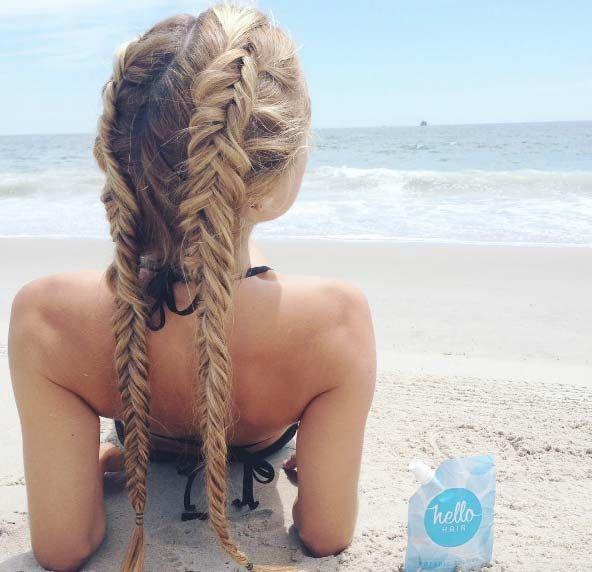 double fishtail braids                                                                                                                                                                                 More