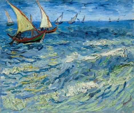 Vincent van Gogh, The Sea at Saintes-Maries, 1888 on ArtStack #vincent-van-gogh #art