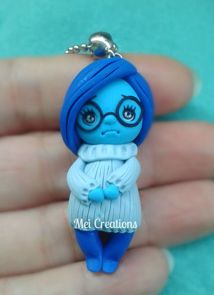 Sadness Inside out Tristezza bambolina in fimo/ handmade doll polymer clay