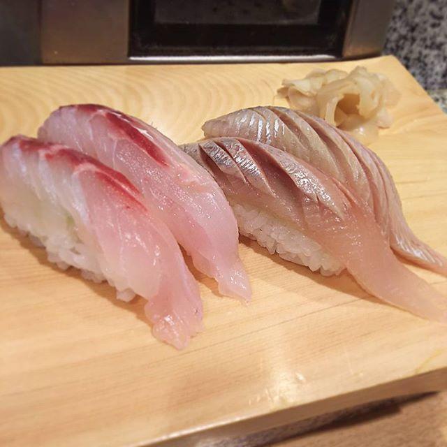 #黒鯛 #生にしん 握りで いつもながら #敷居は低く #クオリティ高い ✨良い仕事です(^-^) #nigiri #sushi #sushitime #tai #nishin #鮨 #寿司 #ひとり寿司 #japan #tokyo #nakano