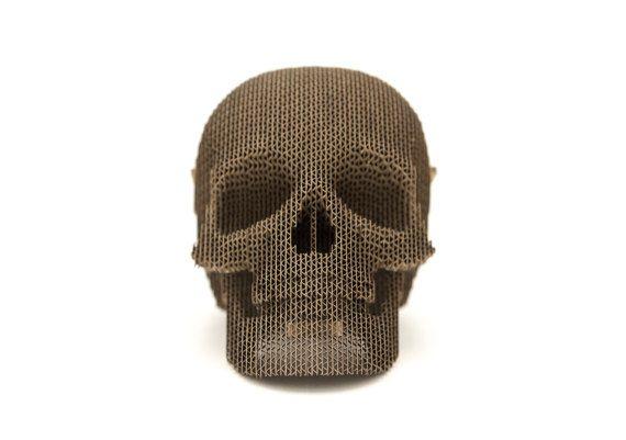 Cardboard Skull by Qbidesign on Etsy