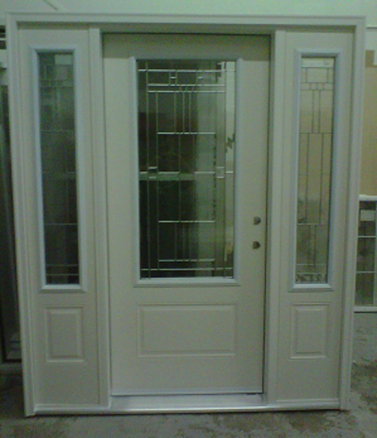Entry doors with sidelights single entry door w for Single exterior door