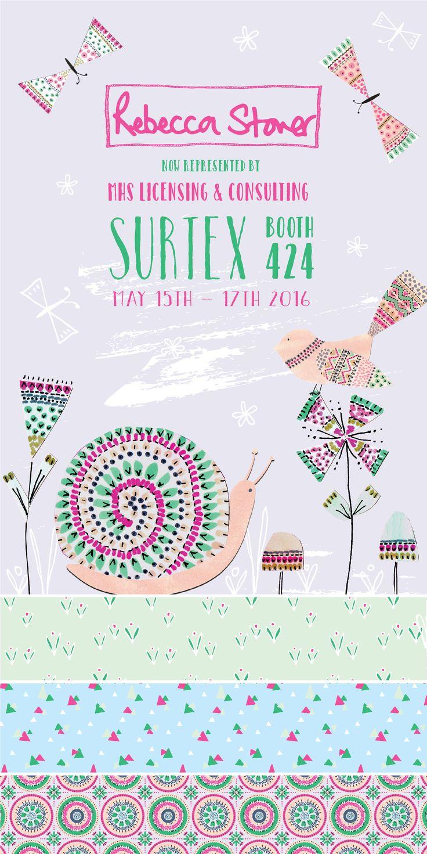 Surtex 'Summer Walk' flyer by Rebecca Stoner #surtex #surtex2016