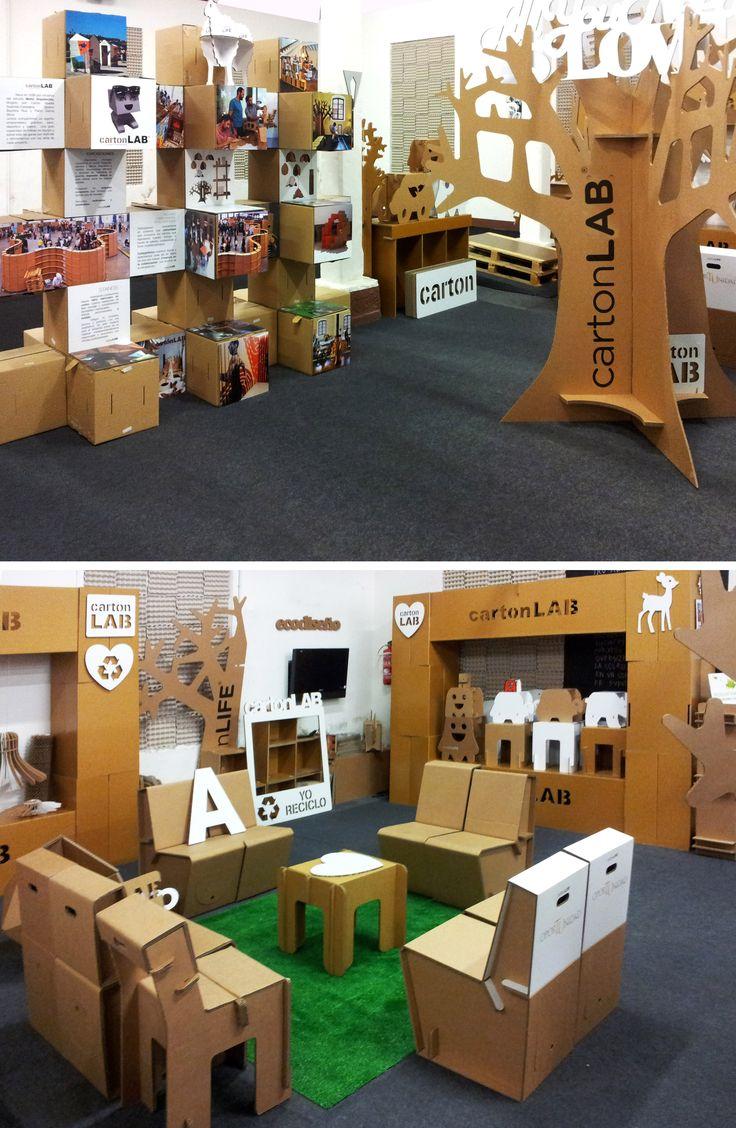 Cardboard furniture techniques how to achieve strength growing up - Showroom De Cartonlab Cardboard Chaircardboard