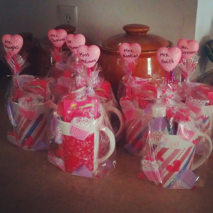 Haley's Valentine's presents for her teachers!!