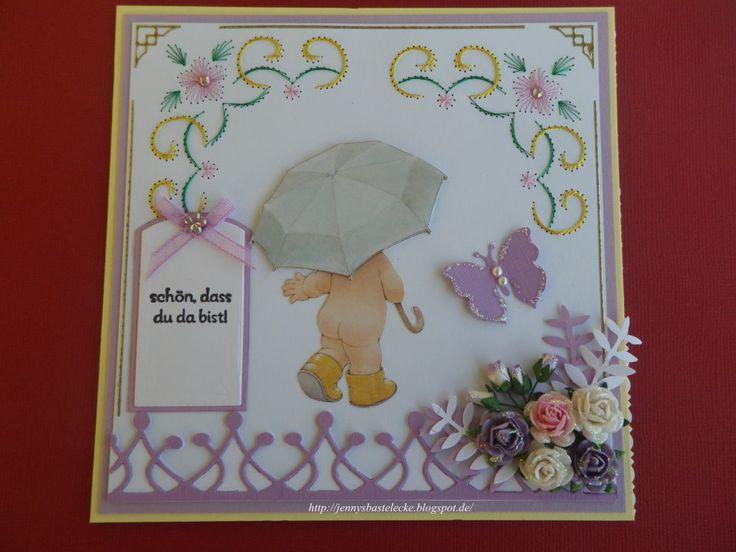 Babykarte mit Fadengrafik