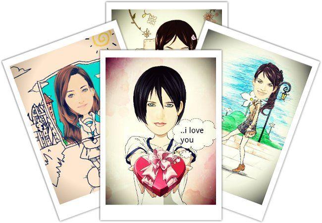 Fotos transformadas en caricaturas utilizando aplicaciones Android.