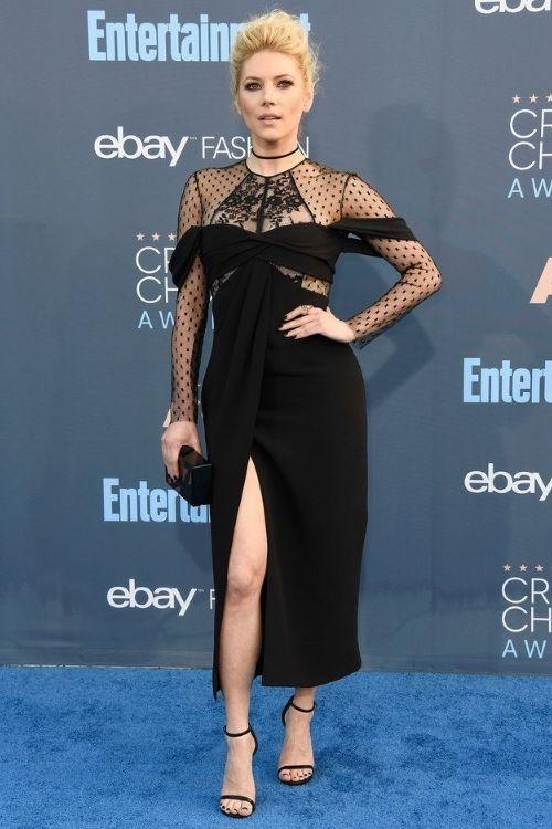 Katheryn Winnick at Critics' Choice Awards 2016 in J. Mendel, Кэтрин Винник