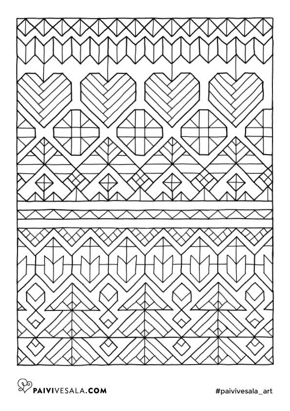 Free printables for Christmas relaxation | Mental Images coloring books by Päivi Vesala