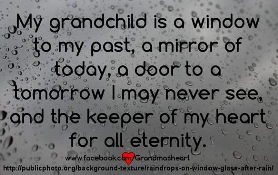 My Grandchild Is A Window To My Past, A Mirror Of Today, A