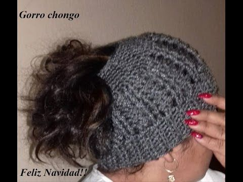 "Gorro tejido ""coleta o chongo"" a crochet MESSY BUN HAT | TODAS LAS TALLAS - YouTube"