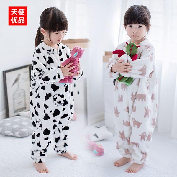 Детские пижамы 2 0 1 6 осень-зима одежда новая детская одежда мальчиков и девочек детские фарах плюшевые мультфильм плюс толстый костюм
