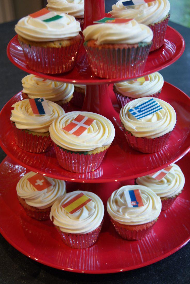 Eurovision party cupcakes