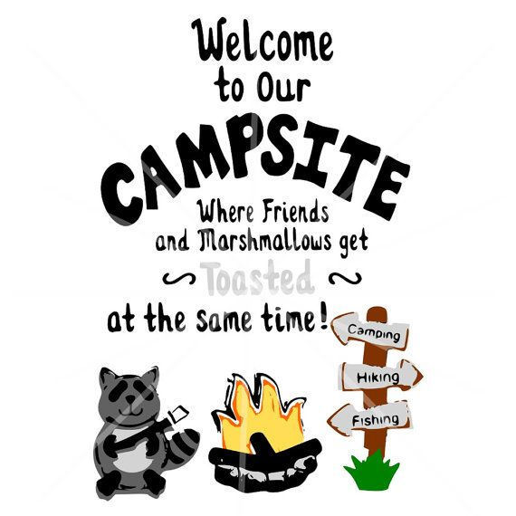 Svg Campfire Sign Svg Welcome To Our Campsite
