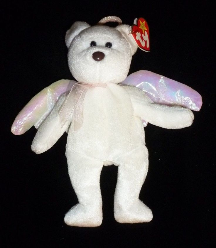 1998TY ORIGINAL BEANIE BABY-  HALO AngelBear-Exactly as Pictured - With Tags #Halo #halobeaniebaby