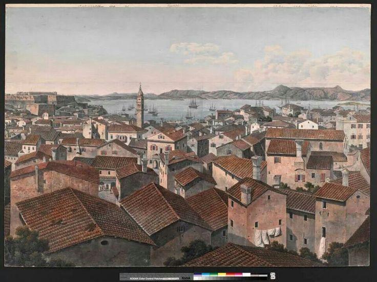 1806 panoramic view corfu town
