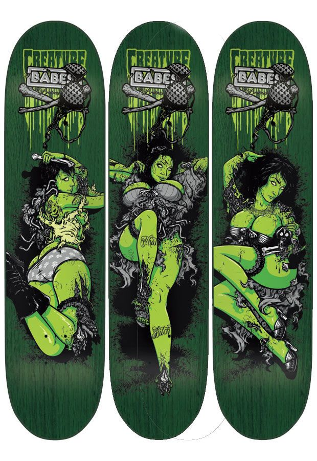 On Deck: Todd Bratrud Brings Babes to Creature Skateboards   Complex