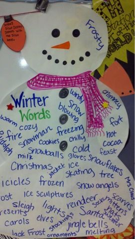 Winter Words anchor chart