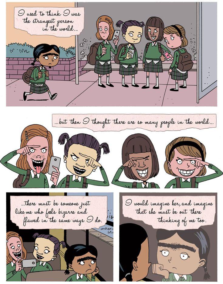 Aimee's World (zenpencils: FRIDA KAHLO: Strange Like Me)