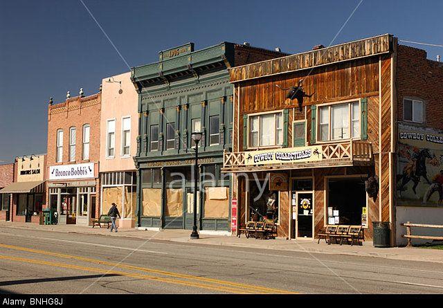 Usa Panguitch Utah Classic Small Town Houses Row Shops