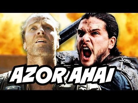 Game Of Thrones Season 7 Jon Snow, Jorah, Azor Ahai Theory. Daenerys Targaryen and Jorah Scene, Samwell, Jon Snow R+L=J Rhaegar Targaryen and White Walkers ►[Azor is a boy's name, Ahai is a girl's name.  I agree w/the theory of Jon & Daenerys being Azor Ahai.]