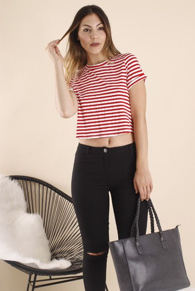 ALANNA STRIPE TEE WITH BACK KNOT DETAIL