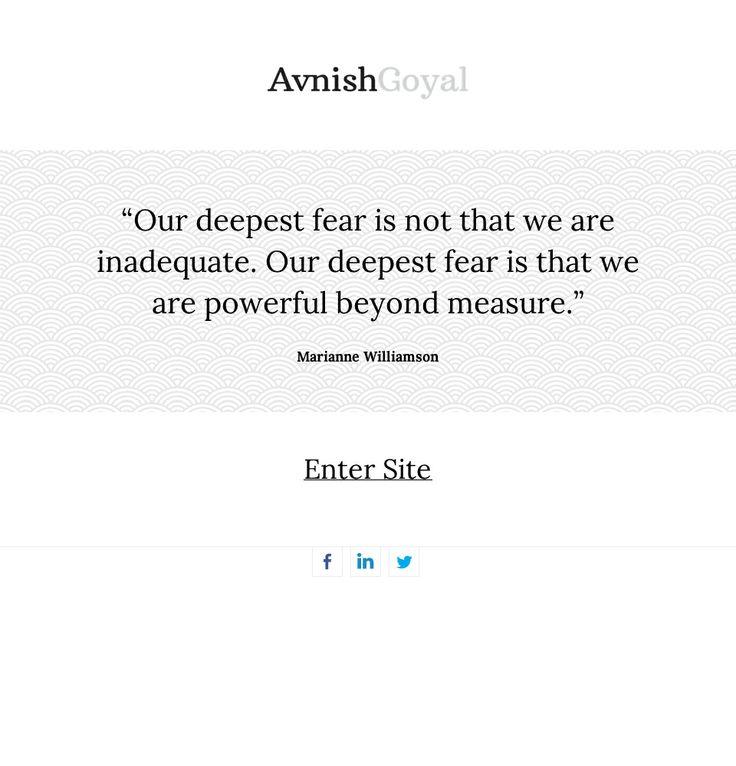 Responsive Website Design for Avnish Goyal www.avnishgoyal.co.uk