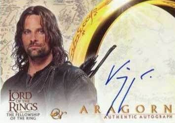Lord of the Rings: Fellowship of the Ring Autographs Viggo Mortensen