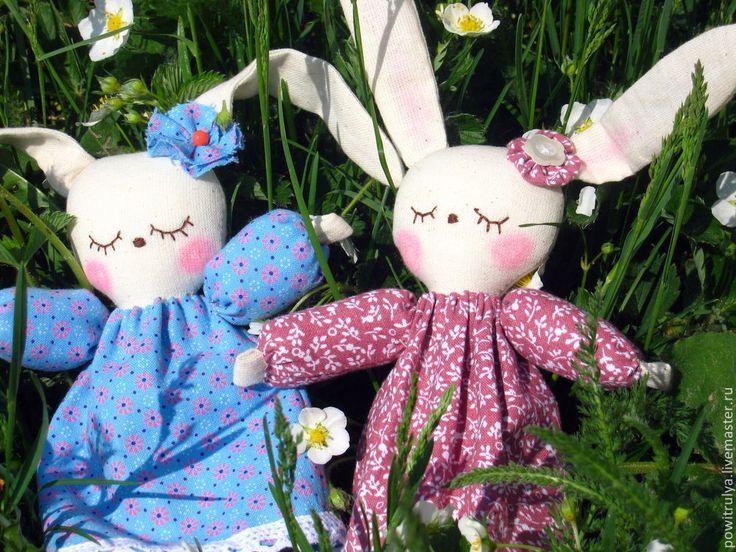Купить Ребятки- зайчатки. Текстильные авторские игрушки. - зайчонок, зайцы, игрушка для малыша, игровая игрушка
