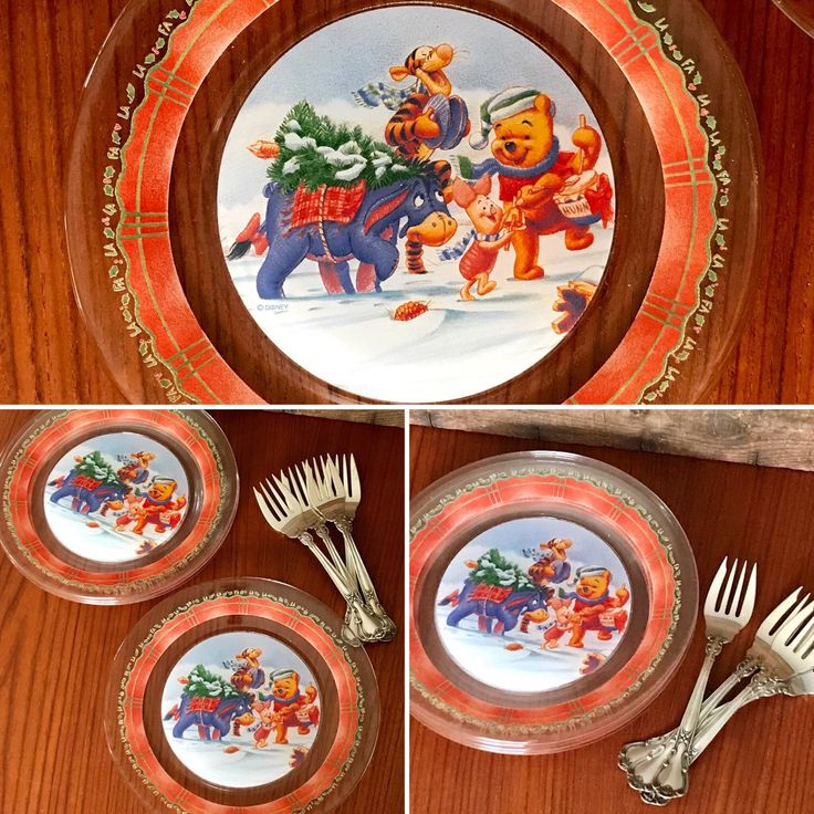 Yes! We even have kids vintage items! Stop by the shop today and check out our selection, including this set of 4 Winnie the Pooh holiday clear glass plates. Great condition and durable for your childrens table settings.