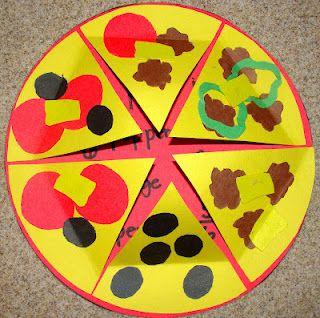 fractions: Grade Math, Schools Math, Pizza Fractions, Math Ideas, Teaching Ideas, Teaching Fractions, Fractions Pizza, 2Nd Grade, Second Grade