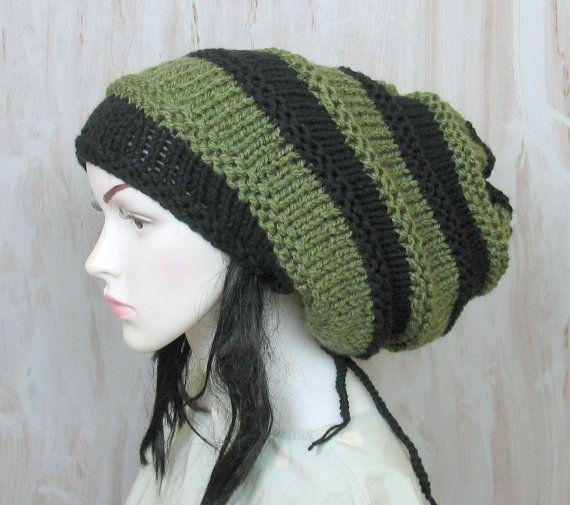 9c3df44e Black Slouchy Beanie Dreadlock Tam Winter Beanie Hat For Dreads ...