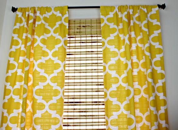Yellow Curtain Panels Set Yellow Drapes Quatrefoil Corn Yellow Curtain  Panels Nursery Curtains Fynn Corn Yellow Curtain Set Of 2 Curtains  Mustard Yellow Curtains