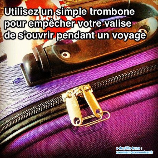 Empêchez Votre Valise de s'Ouvrir en Voyage Avec Cette Astuce.