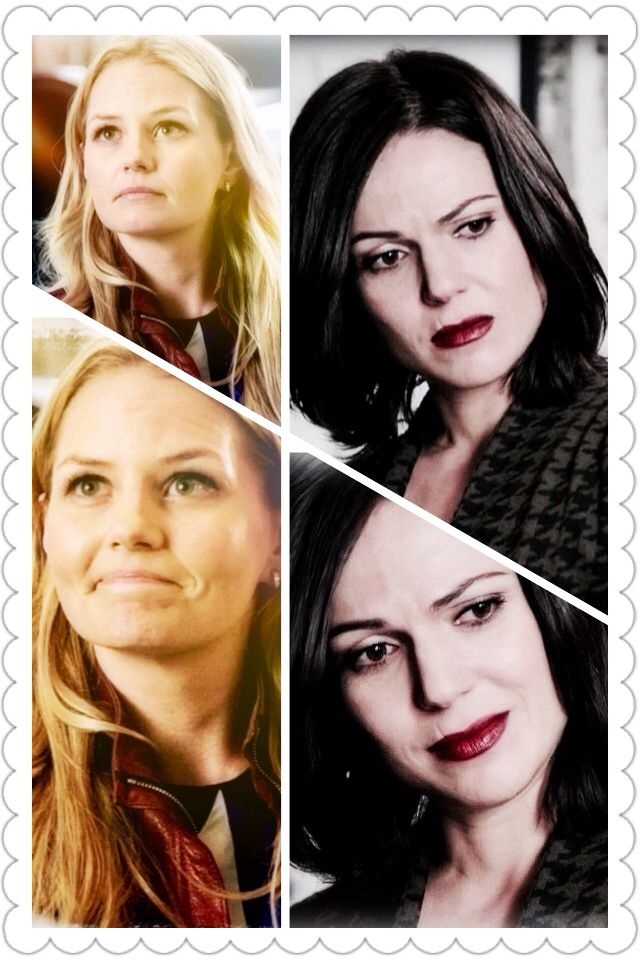 Emma being the light to Regina's dark whilst her son has no memories of her whatsoever.