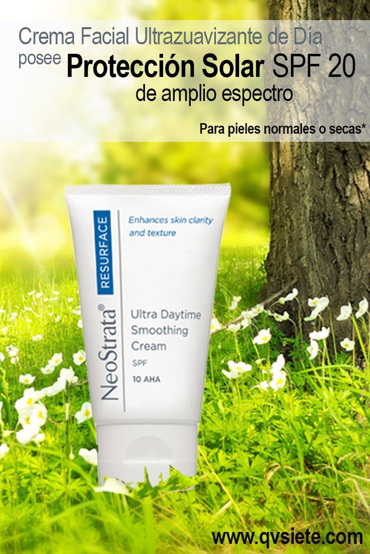 Producto con protección solar, para piel secas u opacas