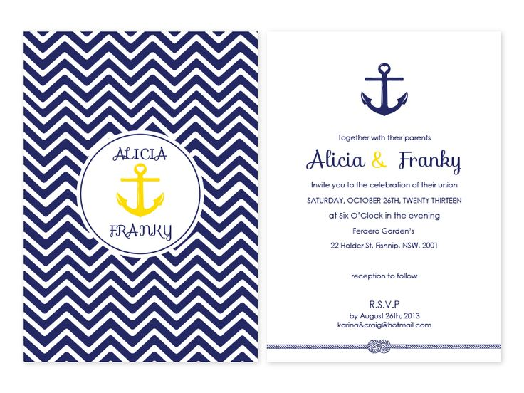 Anchor Of My Heart Personalised Wedding Invitations