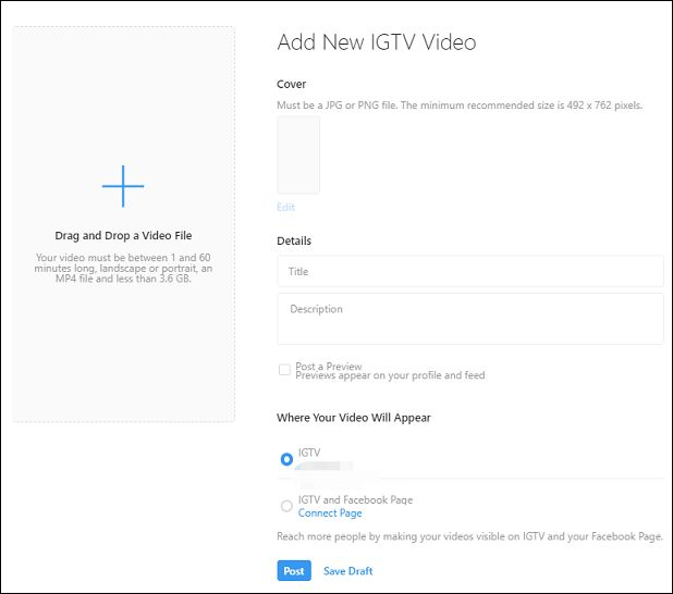 A Complete Guide How To Upload A Video To Igtv Instagram Video Video Instagram