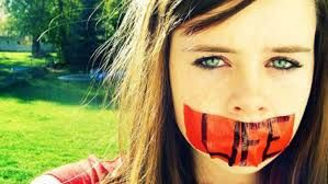 Image result for girl with tape over mouth