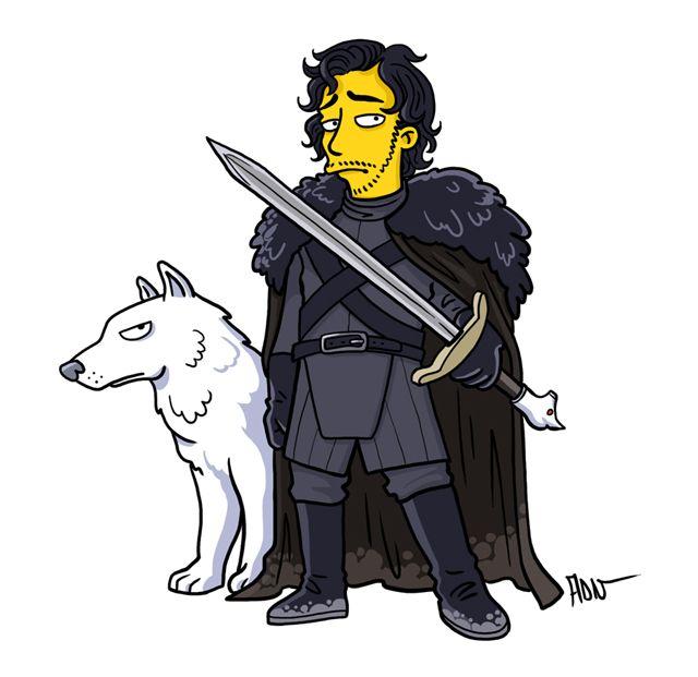Jon Snow Simpsonfied!