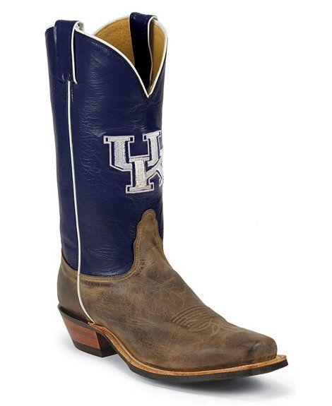 Nocona Men's University of Kentucky College Cowboy Boots - Square Toe   # Pinterest++ for iPad #