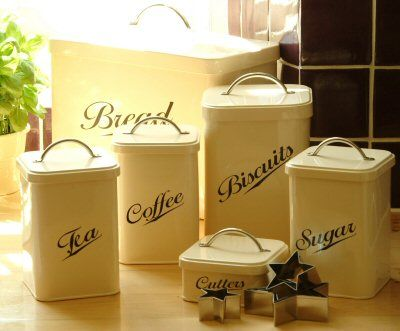 vintage style canisters in the kitchen pinterest vintage style retro kitchen canister tea caddy free