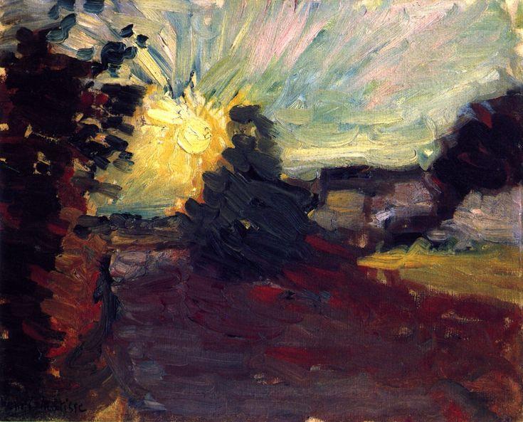 dappledwithshadow:  Sunset in Corsica, Henri Matisse 1898