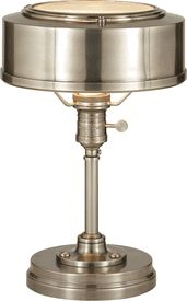 Limited Production Design Limited Stock: Classic Victorian Desk Lamp * Antique Nickel * H: 13 x 8 inches