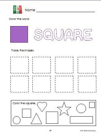 Printables Square Worksheets 1000 images about preschool on pinterest church nursery square shape printable worksheet
