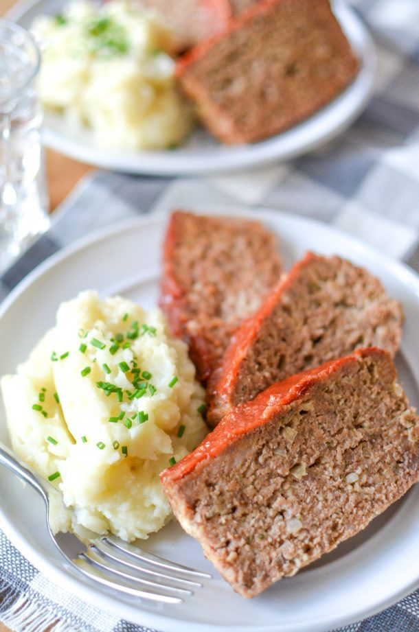Diner Style Meatloaf with Ketchup Glaze   Gilmore Girls Food   @simplywhisked