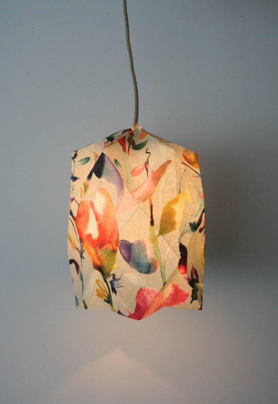 DIY Origami lampshade   Wallpaper craft idea   Craft tutorial   Geometric lampshade