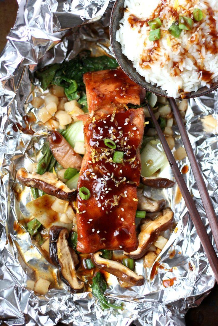 Miso Salmon en Papillote + Shiitake Mushrooms | Recipe ...